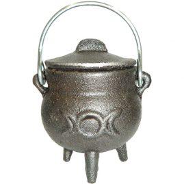 Triple Moon Iron Cauldron
